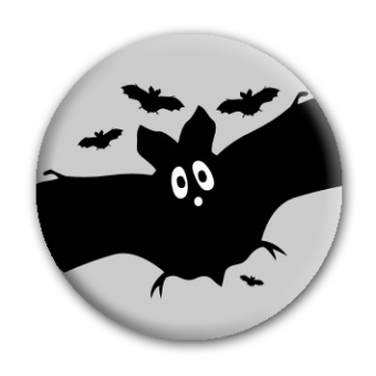 Button Fledermaus